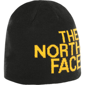 The North Face Reversible TNF Banner Beanie TNF Black/TNF Yellow Logo Xl